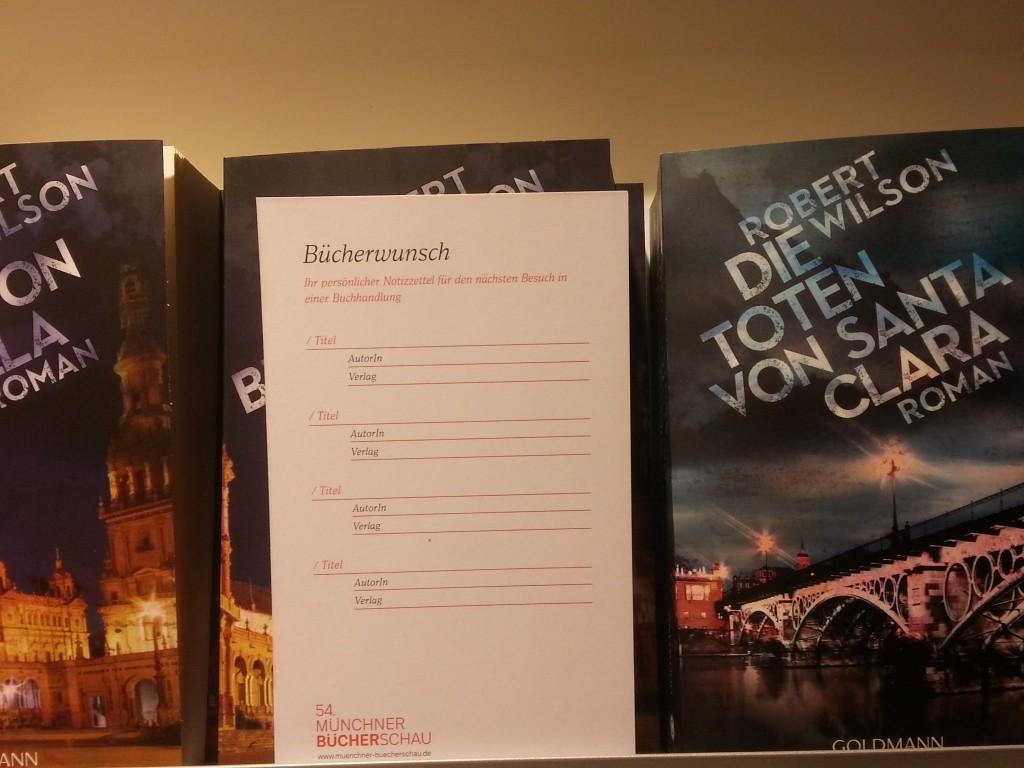 Abbildung einer Postkarte für Buchwünsche