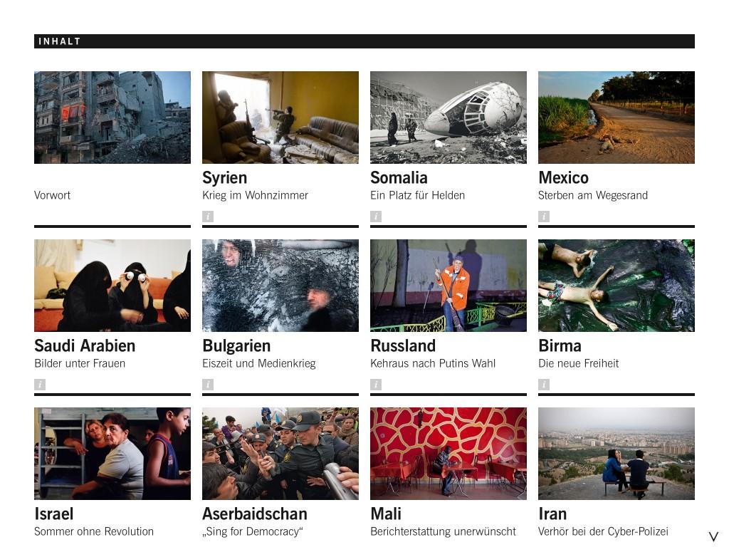 Screenshot der iPad-App Reporter ohne Grenzen von TDSoftware GmbH