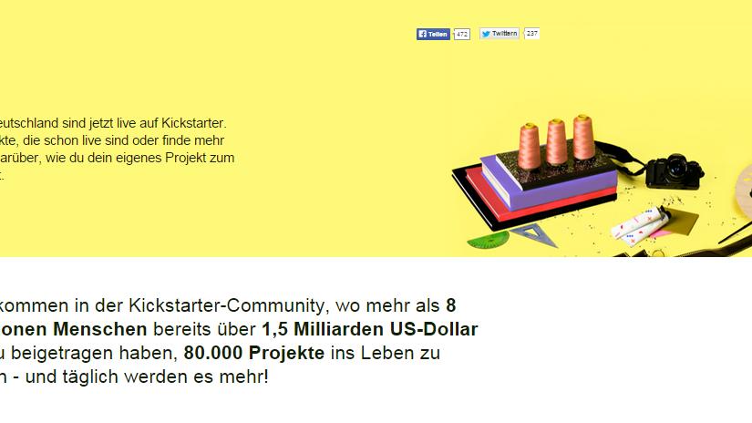Kickstarter aus Deutschland: Eine völlig zusammenhanglose Rundschau