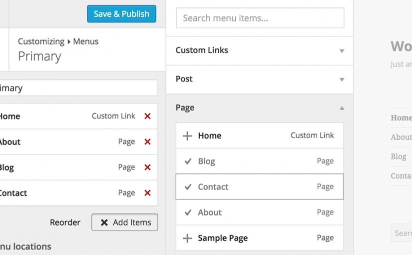 Screenshot: Wordpress