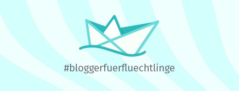 """Banner der Aktion """"Blogger fuer Fluechtlinge"""""""
