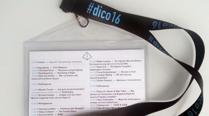 Abwechslungsreicher Auftakt – Rückblick auf die neue Konferenz #dico16